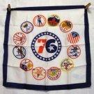 American Bicentennial acetate souvenir scarf Spirit of 76 vintage scarves 1131vf