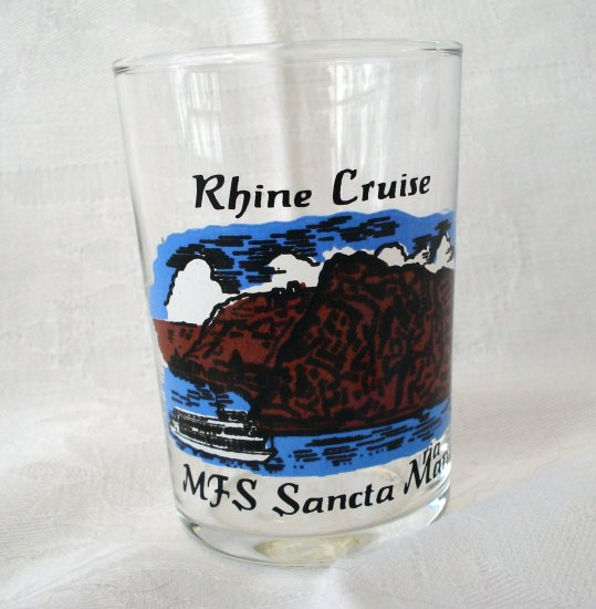 Rhine Cruise souvenir shot glass MFS Santa Maria Lorelei 1148vf