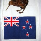 New Zealand souvenir towel flag and kiwi vintage 1172vf