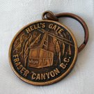 Hell's Gate Fraser Canyon, BC Canada souvenir keyring copper vintage 1175vf