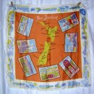 Souvenir postcards scarf from New Zealand really old acetate 1178vf