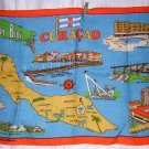 Curacao Bon Bini souvenir towel maps and sites Moygashel linen1183vf