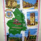 Morpeth Northumberland linen souvenir towel Ulster unused 1184vf