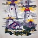 Lighthouses of Prince Edward Island souvenir huck towel vintage 1188vf