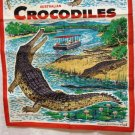 Australian Crocodiles Neil designed cotton linen towel unused 1200vf