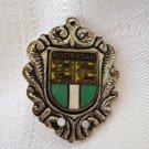 Rotterdam souvenir pin silvertone cloisonne coat of arms vintage 1203vf