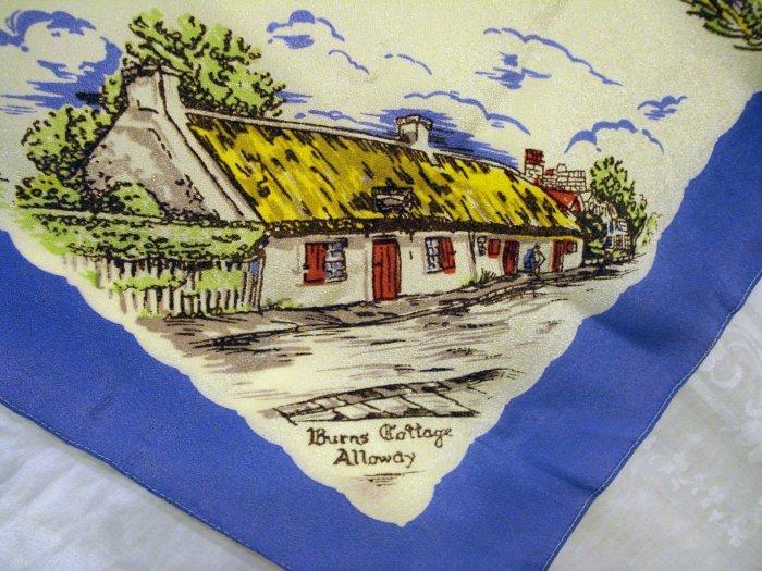 Robert Bobby Burns commemorative souvenir scarf antique 1225vf