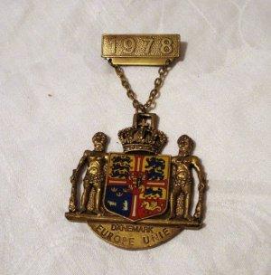 1978 Hiking medal from Denmark Danemark Europe Unie Turnerbund Hermersberg 1227vf