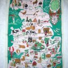 Britain's Bounty linen towel by Ulster vintage colorful 1240vf
