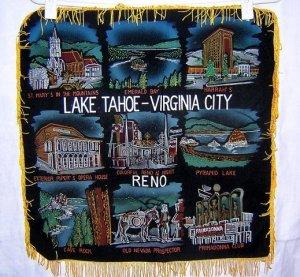 Nevada souvenir cushion cover Tahoe, VA City, Reno 1252vf