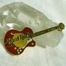 Hard Rock Cafe Hong Kong guitar pin gold tone enamel vintage 1256vf