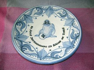Domingo Punter Teruel pottery commemorative plate from Spain mint 1270vf