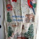 Linen souvenir towel Norfolk Island by St. Barnabas 1319vf