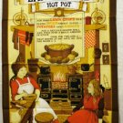 Lancashire Hot Pot recipe cotton towel unused Vista vintage souvenir linens 1357vf