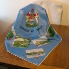 Dominion of Canada 1950s souvenir scarf blue vintage1379vf