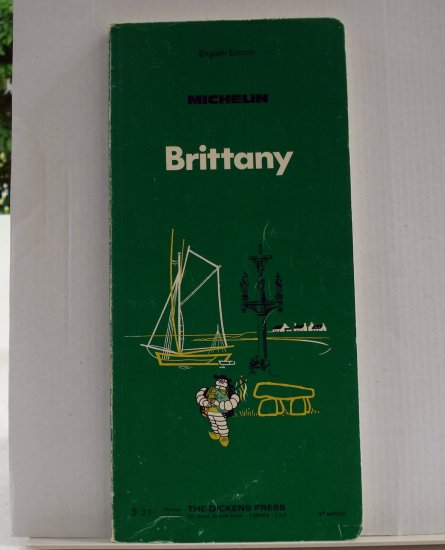 Michelin Brittany 1972 green guide book English 4th edition used PB 1403vf
