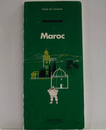 Michelin Maroc Morocco 1978 green guide book en Francaise 3rd edition used PB 1404vf