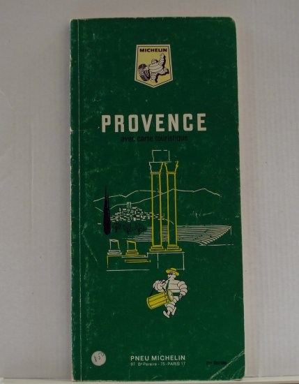 Michelin Provence green guide book Provence with road map 1969 used PB 1410vf