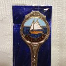 Walleroo South Australia souvenir spoon with sailboat in package vintage 1417vf