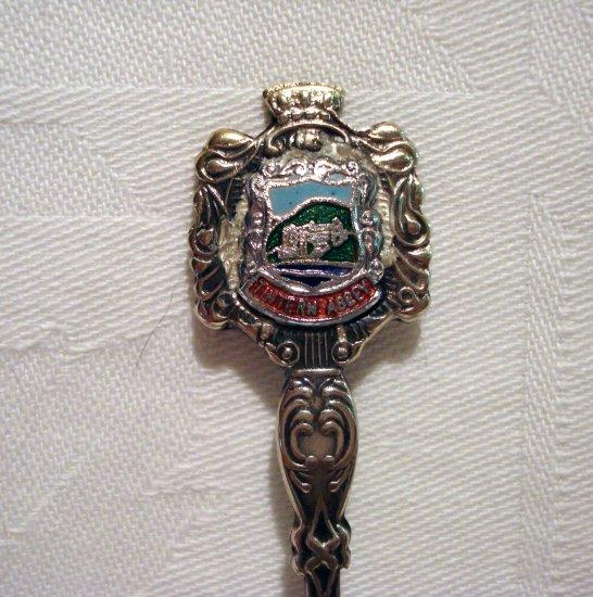 Tintern Abbey Wales souvenir spoon silverplate antique 1418vf