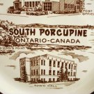 South Porcupine Ontario 22K gold trim souvenir plate as new vintage 1448vf
