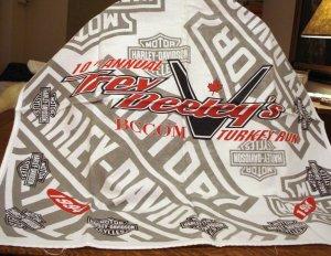 Trev Deeley's1994 Harley-Davidson Turkey Run cotton bandanna vintage 1450vf