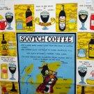 Scotch coffee souvenir towel cotton linen recipe vintage1453vf