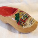 Souvenir wooden shoe from Lucas Bols house of 1575 vintage Holland 1468vf