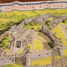 Windsor Castle souvenir linen tea or kitchen towel vintage 1485vf