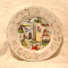 New York state souvenir plate mid 20th century porcelain vintage 1487vf