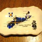 Nova Scotia souvenir tip or pin dish Sandland Hanley Staffordshire gold rim vintage 1503vf