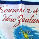 Souvenir of New Zealand scarf acetate signposts unused vintage1513vf