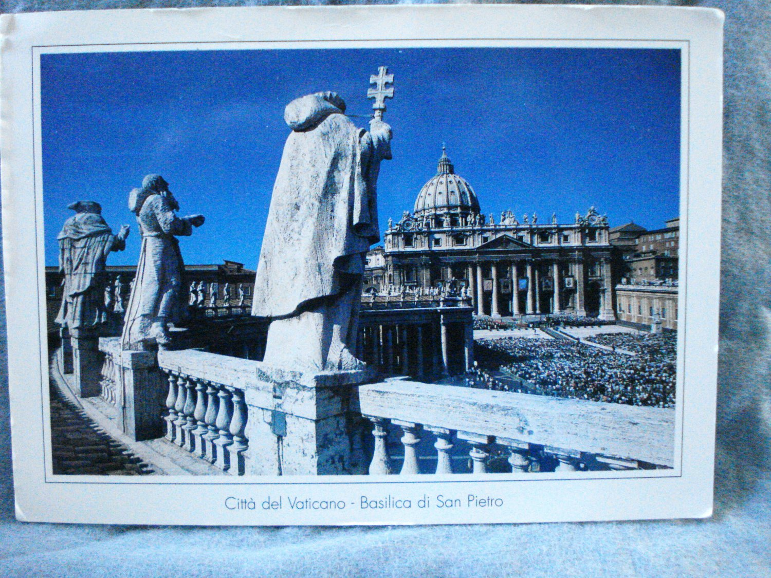 St. Peter's Basilica Vatican City Rome souvenir postcard dramatic view pre-owned unused 1519vf