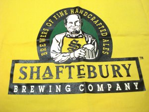Shaftebury Brewing Company chef style apron bright yellow preowned 1528vf