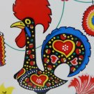 Souvenir ceramic tile Portuguese rooster, carnation, party decorations vintage 1548vf