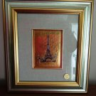 Eiffel Tower chromolithograph signed Borelli framed 1551vf