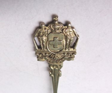 Greece silverplate souvenir spoon jelly spoon made in Holland vintage 1554vf