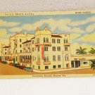Villa D'Este Hotel Miami Florida advertising postcard Curteich Chicago linen unused 1567vf