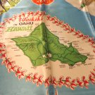 Waikiki on Oahu Hawaii souvenir scarf acetate satin unused vintage 1571vf