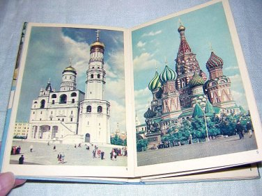 Moscow picture postcard book from the 1950s Cold War 1025vf