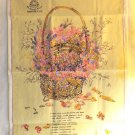 Pot-pourri recipe tea towel promotion of De Borioli Wines NSW Australia cotton vf1596