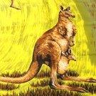 Kangaroos souvenir of Australia scarf 26 inches Citer Design acetate vintage 1602vf