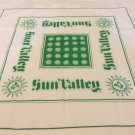 Sun Valley souvenir scarf bandanna anthropomorphic suns Stevens Brown design vintage 1603vf