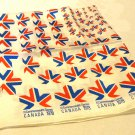Commonwealth Games XI Canada 1978 souvenir scarf 27 inches red white blue acetate vintage 1604vf