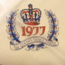 Queen's silver jubilee souvenir scarf 1977 vintage 27 x 28 in. viscose and nylon 1606vf