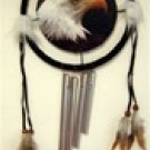 Eagle theme dream catcher with feathers