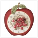 wood apple clock