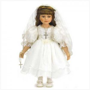 18 inch Communion Doll - Porc