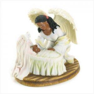 Guardian Angel Baby In Cradle