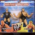WWF WWE Jakks Fantasy Warfare Stone Cold Steve Austin vs. Andre the Giant Action Figures New